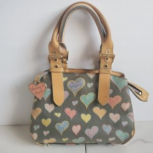 Dooney and Bourke Hearts Collection Small Satchel